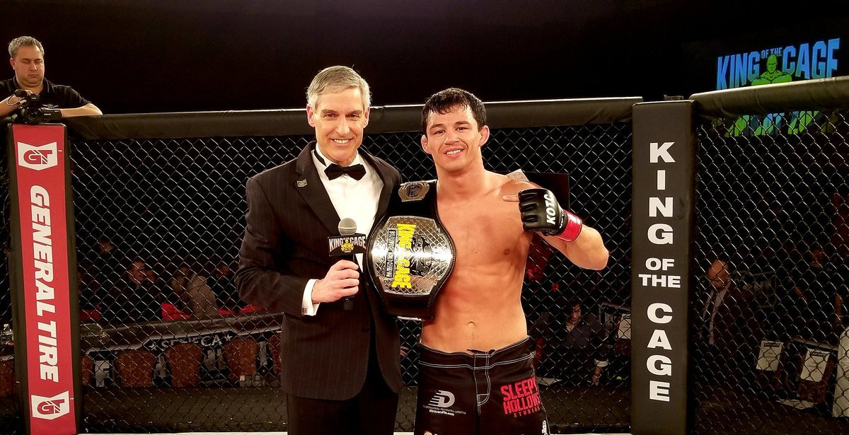 Billy Quarantillo after defending his King of the Cage Lightweight Title on February 23, 2019