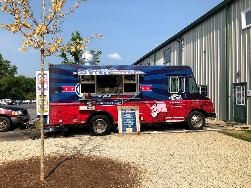 The onsite food truck had really good burgers at Oskar Blues Brewery in Brevard, NC