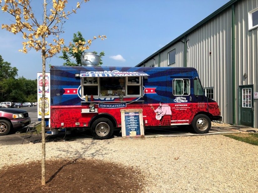 The onsite food truck had really good burgers at Oskar Blues Brewery in Brevard, NC